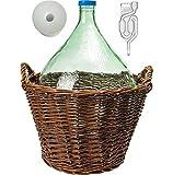 lilawelt24 10L Gärballon + Weidenkorb +Gärröhrchen +Gummistopfen Weinballon Gärbehälter...