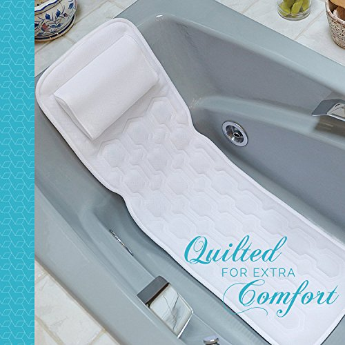 COMFYSURE Bath Cushion for Tub - Extra-Large Full Body Bath Tub Pillow