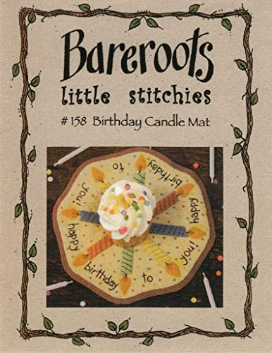 Bareroots Little Stitchies #158 Birthday Candle Mat Applique Quilt Pattern