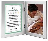 Godfather Gift Sweet Poem from Godchild - Add 4x6 Inch Photo