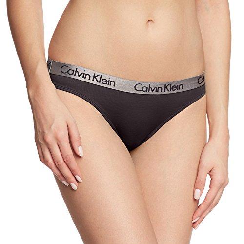 Calvin Klein Radiant Cotton-Bikini Braguita, Negro (Black 001), Medium para Mujer