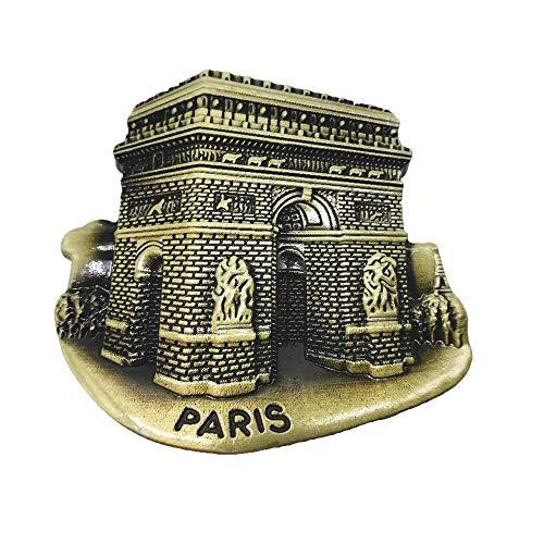 Aimant de réfrigérateur Arc de Triomphe Paris France souvenir de voyage, décoration de maison et de cuisine
