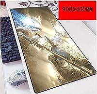 マウスパッドファイナルファンタジー900X400mmスピードゲーミングマウスパッド、拡張XXLラージマウスマット3mm厚ベース、ノートブック、PC D