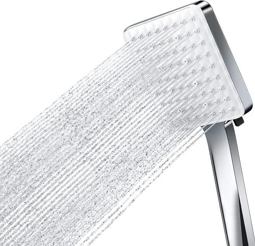 Merece Duschkopf Stress Erhöhen mit 6 Strahlarten, Große Platte mit 72 Löchern sprühen Sie gleichmäßig Wasser, Universal Duschbrause für Baden und Spa (ohne Schlauch)