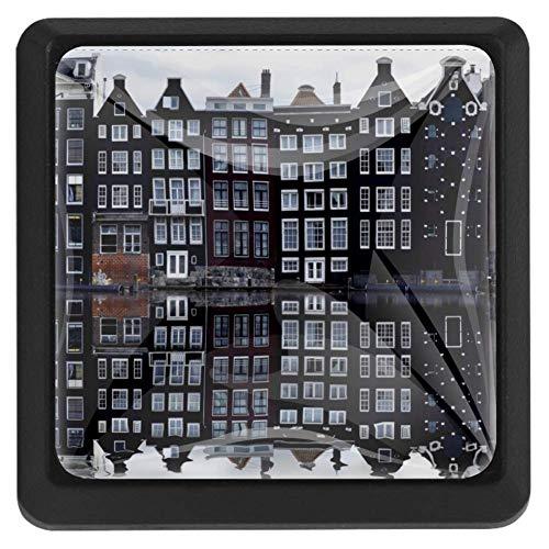 Bali vierkante lade knoppen trekken handgrepen 3 Pack gebruikt voor keuken, dressoir, deur, kast Modern design 37x25x17mm/1.45x0.98x0.66in AMSTERDAM