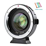 VILTROX EF-M2 Auto Focus Lens Mount Adapter Converter 0.71X Compatible for Canon EOS EF EF-S Lens to Micro...