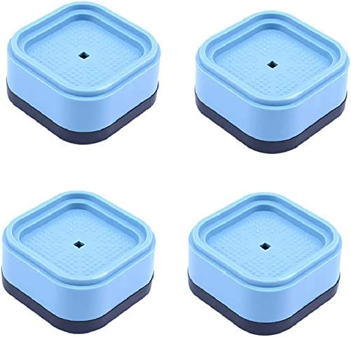 VELINEX Anti Slip Anti Vibration Washing Machine Feet Pads Shock and Noise Cancelling Washer and Dryer Pads Also for Refrigerator Home Furniture Appliances 4PCS Blue