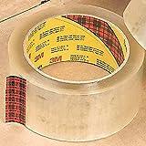 3M (3743-clear-48mmx50m-bulk) alta Tack caja sellado cinta 3743transparente, 48mm x 50m