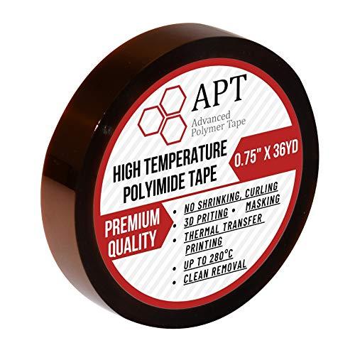 APT, cinta adhesiva de poliimida de 1 mil de grosor, alta temperatura y cinta de calor, para...