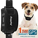 AngelaKerry Wireless Dog Fence System with GPS, Outdoor Invisible Pet Containment System Rechargeable