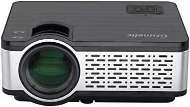 Mini Portable Projector, Gzunelic 5000 Lumens LED LCD proyector Native 1280 x 800 Support 1080P HD Video Built in HiFi Speakers with HDMI USB AV VGA Audio Interfaces Ideal for Home Theater