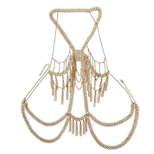 Sujetador Cadena Pechuga Rhinestone Cuerpo Cadena Cuerpo Sujetador Sexy Collar para Mujeres Crystal Bralette Bra Cadena Pecho Cadena Joyera Regalo