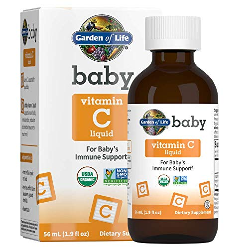 Garden of Life Baby Vitamin C Liquid for Baby's Immune Support, Fruit, 1.9 Fl Oz