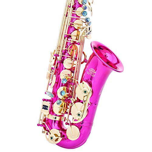 Chyuanhua Saxophon E flaches Altsaxophon Altsaxophon Geeignet für Studenten und Anfänger (Farbe : As Shown, Size : One Size)