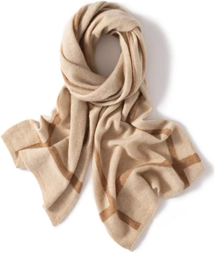 ZANZAN Cold Weather Scarves Men's Cashmere Scarf, Fashionable Winter Warmth Super Warm and Super Soft Wool Scarf Thanksgiving Gift for Parents Decorative Scarf
