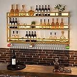 LXYPLM-WR1 Wine Rack Wine Organizer Rack Wine Rack Light Wall Hanging Wine Cabinet Bar Counter Background Decoration Wine Glass Rack Upside Down Home Restaurant Rack for Bars Restaurants Kitchens