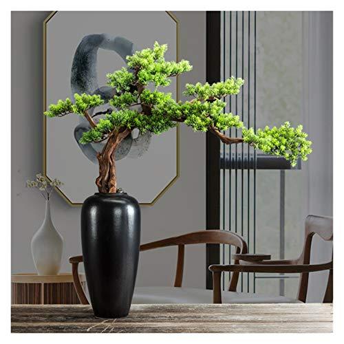 xinxinchaoshi Planta Artificial para bonsái Simulación Búsqueda de Pino Sala de Estar Bonsai Año Nuevo Muebles de Escritorio Muebles para el hogar Inicio Fake Pine Tree Cypress Ornamentos Artesanía
