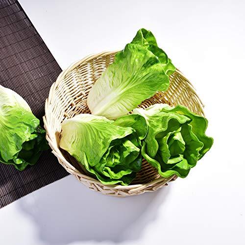 Deanyi Simulación Artificiales 2pcs alimento Artificial Falso Verdadero Toque Decorativo enseñanza de la PU Apoyos Lechuga Verduras en Falso Juego de imaginación Frutas Apoyo de la fotografía