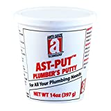 AST-PUT 25201 Plumber's Putty, Professional Grade, Tan, 14 oz. Tub