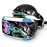 Sony Playstation VR Headset Skin Decal Vinyl Wrap - Resin Swirls Smok Glass