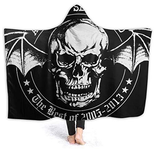 MAJJAKJH-id Blanket Hoodie Avenged Sevenfold The Best of Adults and Children Blanket Blanket, Soft Cape, Shawl Wrap