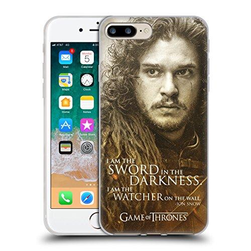 Head Case Designs Licenza Ufficiale HBO Game of Thrones Jon Snow Ritratti dei Personaggi Cover in Morbido Gel Compatibile con Apple iPhone 7 Plus/iPhone 8 Plus