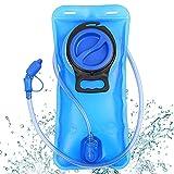 Bubuxy Trinkblase, 2 l, verbesserte auslaufsichere Wasserblase, Wasserspeicher für Outdoor, Wandern, Camping, Laufen, Radfahren