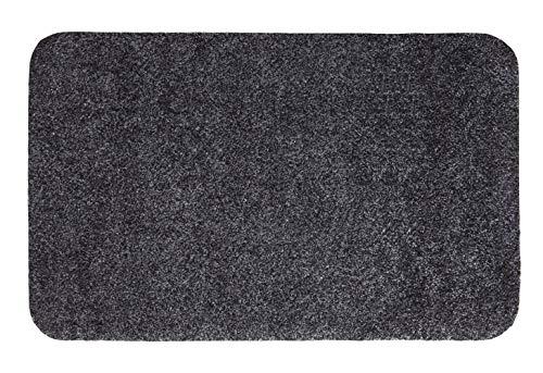 andiamo Fußmatte Samson, waschbare & resistente Türmatte aus 100% Baumwolle, Größe:100 x 150 cm, Farbe:Anthrazit