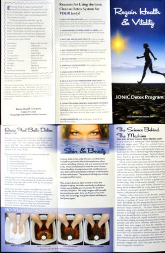 50 Pack of Color Glossy Tri-fold Brochures to Promote Ion Spa Chi Foot Baths!