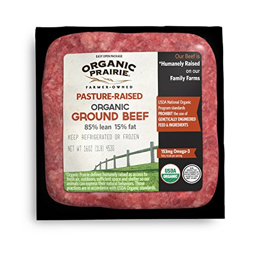 Organic Prairie Pasture Raised 85% Lean Organic Ground Beef, 1 lb