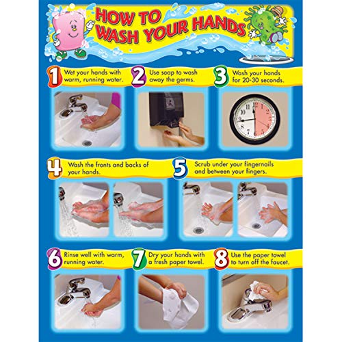 Carson Dellosa How to Wash Your Hands Chart (114021)