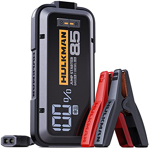 HULKMAN Alpha85S Jump Starter 2000 Amp 20000mAh Car Starter with -40℉ Start Tech 65W Speed Charge Lithium Portable Car Battery Booster Pack for up to 8.5L Gas and 6L Diesel Engines (Space Gray)