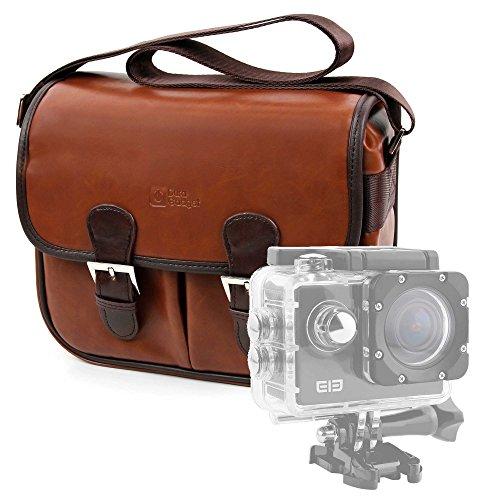 DURAGADGET Borsa Vintage per Action Camera SmilyDirect | Sodao WiFi | Theoutlettablet | TopElek | Uvistar | Zenoplige 4K | ieGeek - con Tracolla Regolabile - Alta qualità