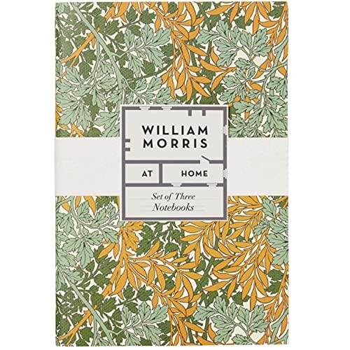 William Morris At Home Útil y hermoso juego de tres cuadernos A5