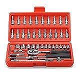 Replaitz 46pcs 1/4-Inch Socket Ratchet Wrench Combination Tools Kit...
