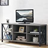 LVB TV Stand for 75 Inch TV, Farmhouse Modern Entertainment Center with Storage for Bedroom, Mid...
