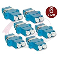 6 Pk Duplex LC to LC Female to Female Couplers | Single-mode Multimode LC Female to LC Female Couplers | FiberCablesDirect | f/f lc/lc female/female adapter sm mm coupler 6 pack