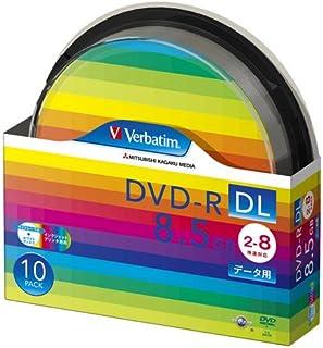 三菱化学メディア Verbatim DVD-R DL 8.5GB 1回記録用 2-8倍速 スピンドルケース 10枚パック ワイド印刷対応 ホワイトレーベル DHR85HP10SV1