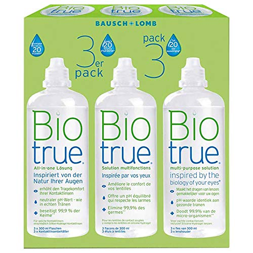 mächtig der welt kontaktlinsen pflegemittel peroxid Bausch + Lomb Kontaktlinse Liquid-Bio True All-in-One-Kombination Weiche Linse 3 x 300 ml