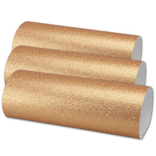 Artoz Glitter papier -zelfklevend DIN A4 - zilver - glinsterend papier - knutselpapier - scrapbooking 05 Bogen champagne