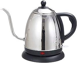 SMSOM Gooseneck Elektrische waterkoker, 1,0 l, 100% roestvrij staal, BPA-, klassiek, schenktuit op ketel koffie   waterkok...