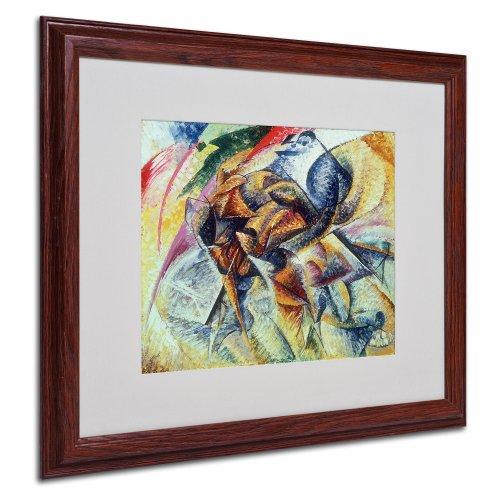 Dynamism of a Cyclist 1913 Artwork by Umberto Boccioni, Wood Frame, 16 by 20-Inch