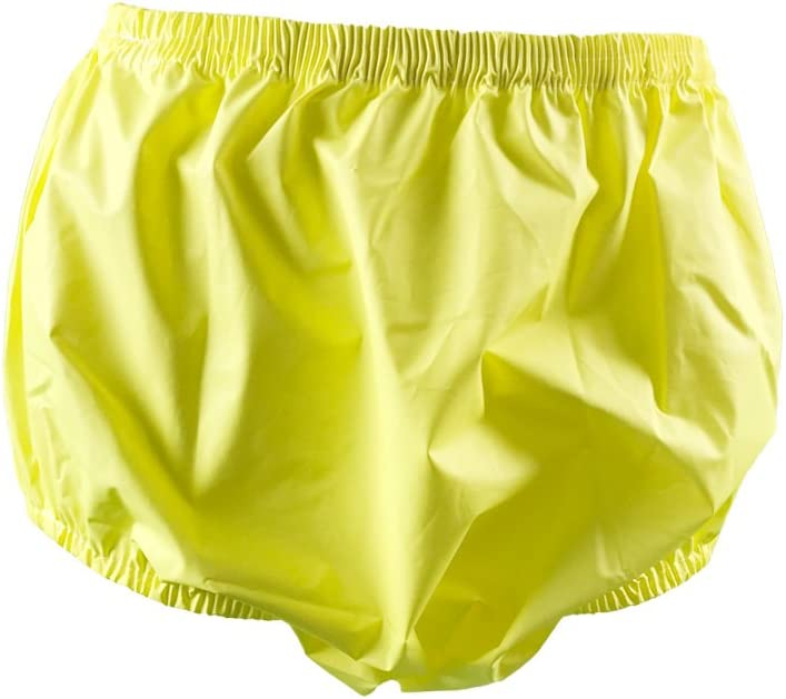 Medium, Yellow Haian Adult Incontinence Pull-on Plastic Pants 3 Pack