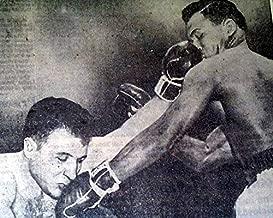 SUGAR RAY ROBINSON Jake LaMotta BOXING World Title Fight 6th 1951 Old Newspaper THE DETROIT FREE PRESS, Michigan, Feb. 15, 1951
