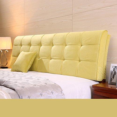 Uus Moderne Ergonomique Coussin de Chevet Tissu Lin Bedless Sac Souple Grand Dossier Taie d'oreiller Couverture de lit Tête de lit Big Taie d'oreiller Pure Couleur 58 * 155 cm