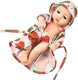 MUXIN New Born Baby Poupons Bebe Poupée Reborn Réaliste-Nurserie Poupon Interactif 26cm Poupee Fille Garcon Vrai -Cadeau Jouet Enfant 3 4 5 Ans,B