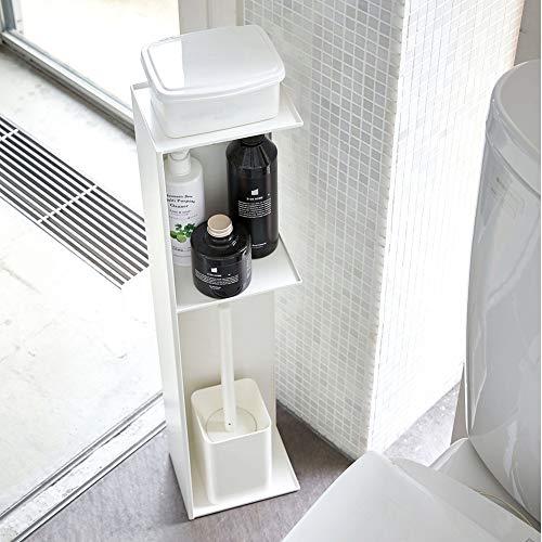 トイレブラシや洗剤、トイレットペーパーなどをまとめて収納できる、人気シリーズ「tower(タワー)」のスリムトイレラック。2面だけ開いた状態なので、置き方次第でオープンラックになったり隠す収納になったりとフレキシブル。