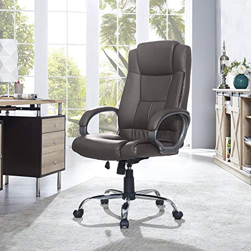 Naomi Home Halle High-Back Executive Office Chair Brown