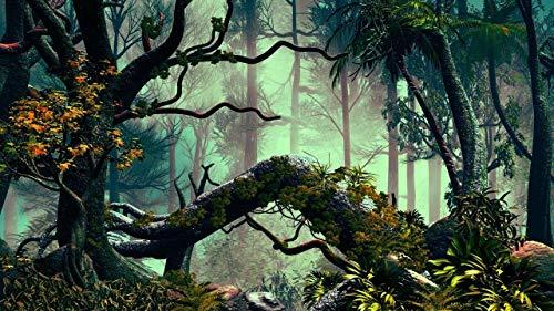 Puzzle de Madera de 1500 Piezas para Adultos, Árboles palmeras selva