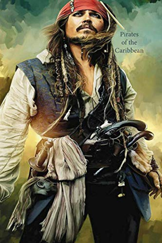 Pirates of the Caribbean: Lined notebook, gift book, writing notebook, notebook, diary, composition book